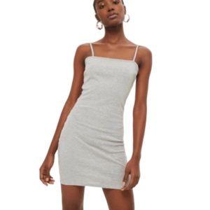 TOPSHOP   NWT Grey Cami Bodycon Slip Dress Size 8